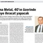 Arena Metal, 40'ın üzerinde ülkeye ihracat yapacak
